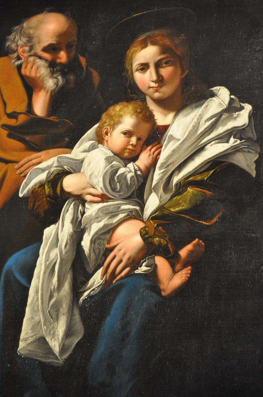 La Sainte famille par Le Caravage