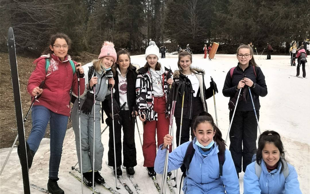Sortie ski de fond en 4e